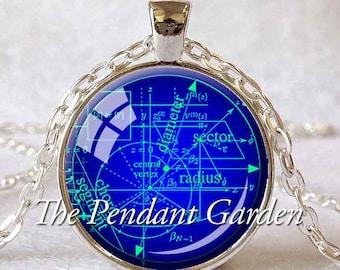 MATH EQUATIONS PENDANT  Mathematician Gift Science Geek Gift Math Jewelry Geometry Pendant Graduation Gift Algebra Pendant Math Teacher Gift