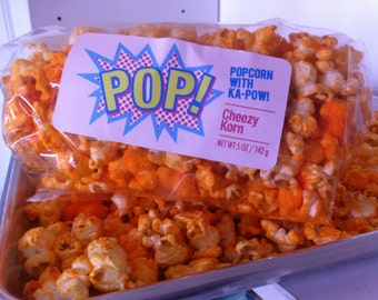 Cheese Popcorn Gourmet Cheddar Hand Made Snack