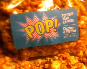 Chicken Waffles Caramel Corn Gourmet Popcorn Party Gift
