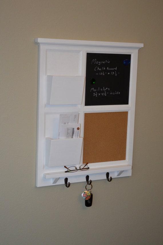 Magnettafel Tafel & Kork mit zwei Mail-Organizer-Brief-Halter   Etsy