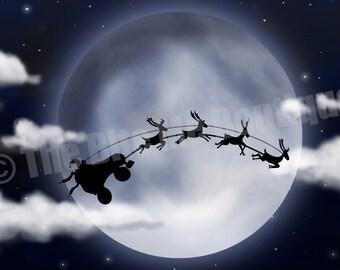 Santa Got a New Ride, Roller Derby Christmas Card