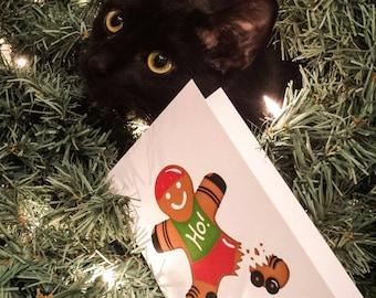 Set of 6, Roller Derby Christmas Cards
