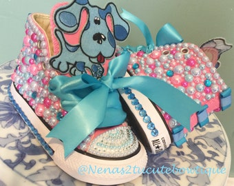 Blues Clues Custom Converse/ Junk Chucks Shoes