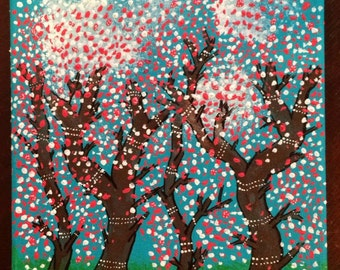 Dancing Trees on Canvas or Wood