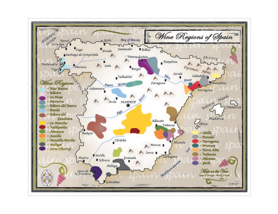 Map Of Yecla Spain.Wine Regions Of Spain