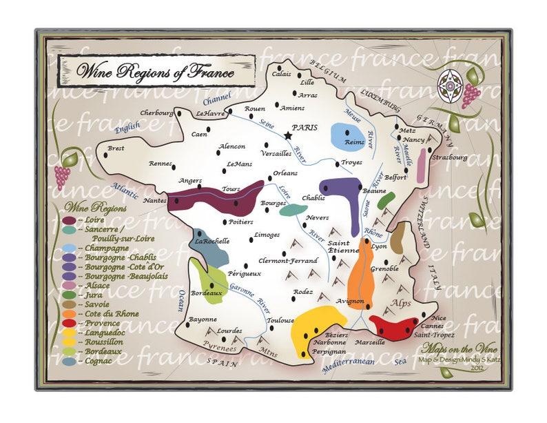 Wine Region Map Of France.Wine Regions Of France