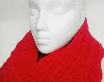 Vibrant Red Infinity Scarf