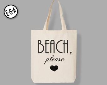 BEACH PLEASE Market Tote.