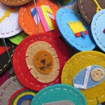 25 felt Jesse Tree Ornaments for Advent and Christmas - our 'Adventus Laetus IV' set