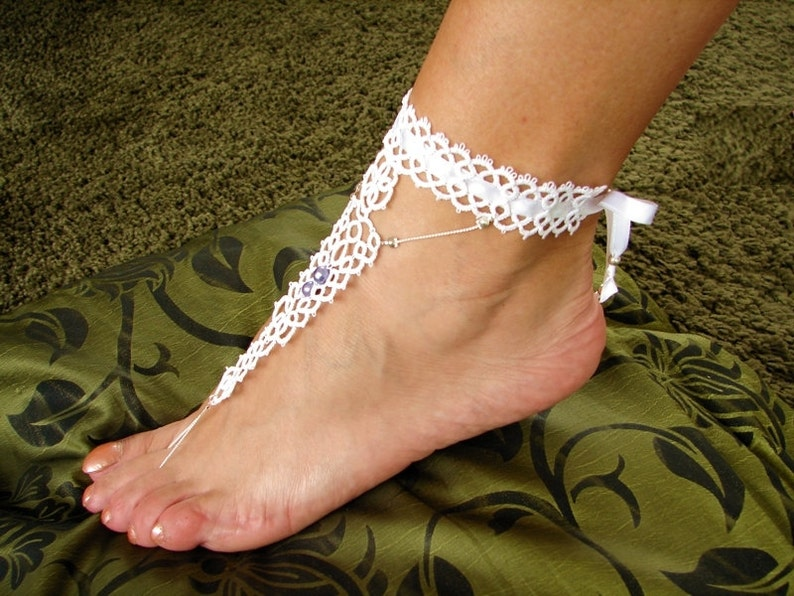 Tatted barefoot sandals Alina