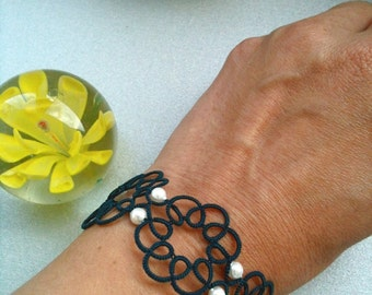 """Tatted bracelet """"Rosette"""""""