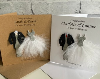 Personalised Wedding Card - Personalised Wedding Day Card - Couple, Mr & Mrs