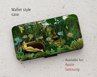 iPhone Case (all models) - Henri Rousseau - The Dream - Wallet style flip case -  Samsung Galaxy S6 - S20 Plus & more