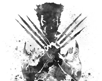 Wolverine inspired ART PRINT illustration, Logan, X-Men, Marvel, Home Decor, Wall Art