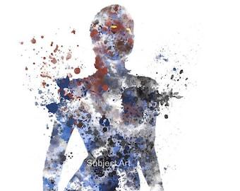 Mystique ART PRINT illustration, X-Men, Marvel, Supervillain, Home Decor, Wall Art
