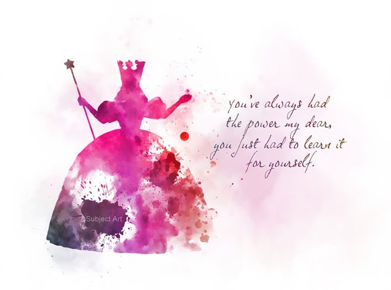Glinda The Good Witch Quote Art Print Illustration Wizard Of