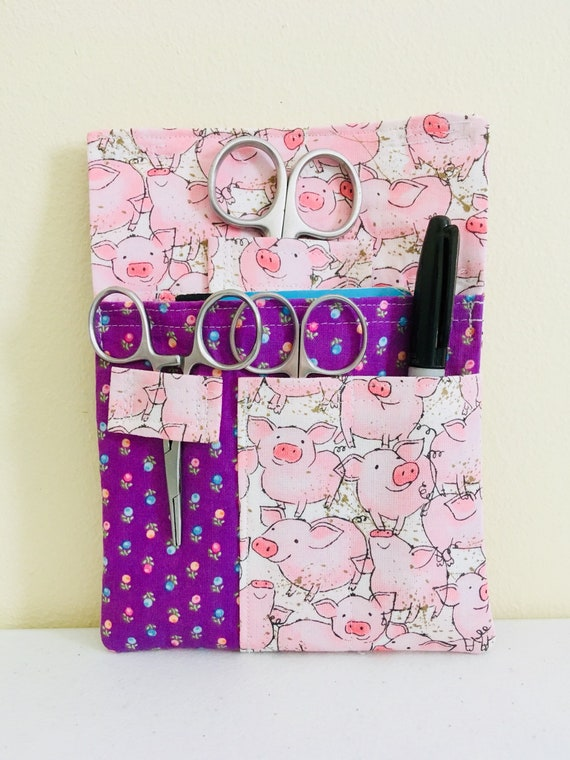 Flamingo Tool Belt Pouch Scrub Pocket Organizer Vet Tech Vet Doctor Nurse