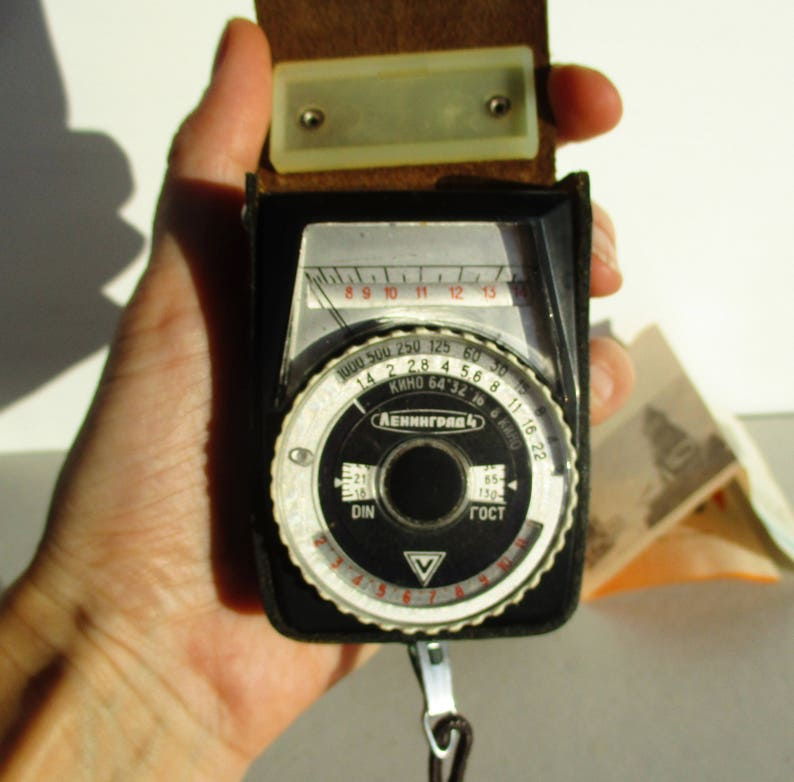 Photo Light Meter Leningrad 4, Russian Photo Gear, Photography Exposure  Meter, Soviet Vintage Photo Equipment, Leather Case