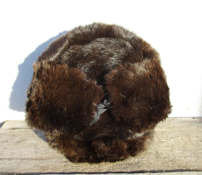 42f701401a817 Winter Hat Rabbit Fur Hat Mens Gift Soviet Ushanka Vintage