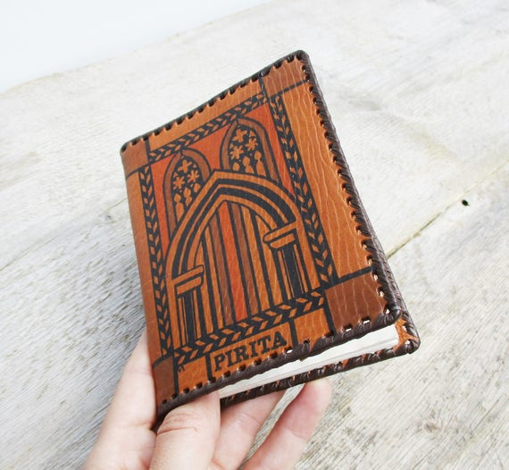 9fed8cbd1a Small Journal Leather Notepad Genuine Leather Moleskine