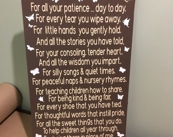Daycare provider, custom childcare sign