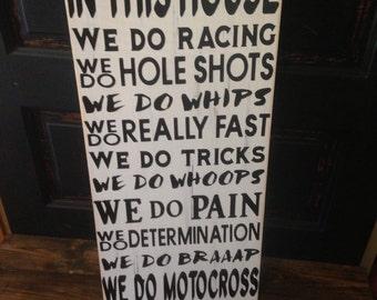 Motocross Racing Sign