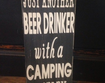 Beer drinker with a camping problem