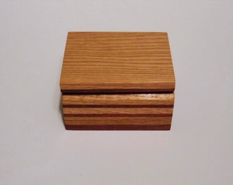 Handcrafted Oak and Purpleheart Ring Box