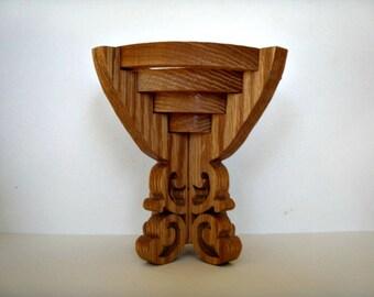 Handcrafted Oak Candleholder