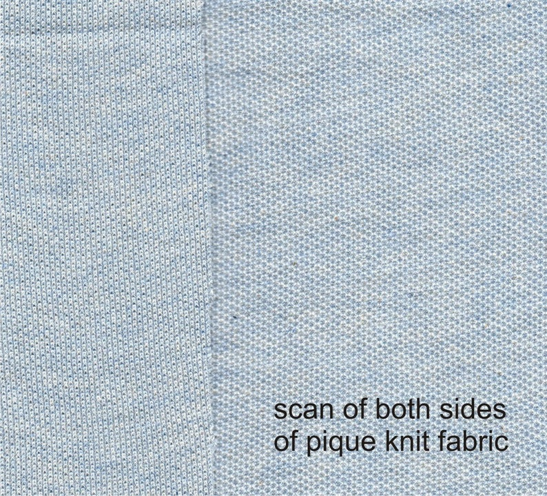 a5b616822dc 1 Meter Light Blue Heather Knit Pique Fabric Cotton Blend | Etsy