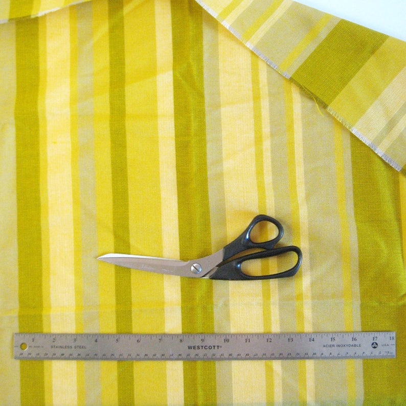 35x36 Gold Home Decor Fabric 1 Yard Striped Fabric Supplies Gold Yellow Pillow Upholstery Fabric Mustard Yellow Stripe Fabric Remnant