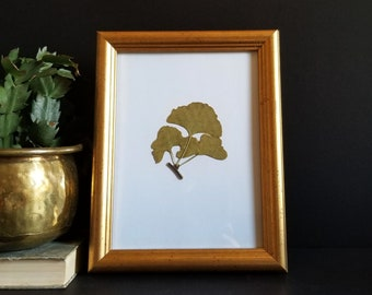 """Gold Picture Frame with Glass - 7x9"""" Vintage Ikea Krans Family Photo Frame - DIY Empty Framing Supplies - Gallery Wall Decor"""