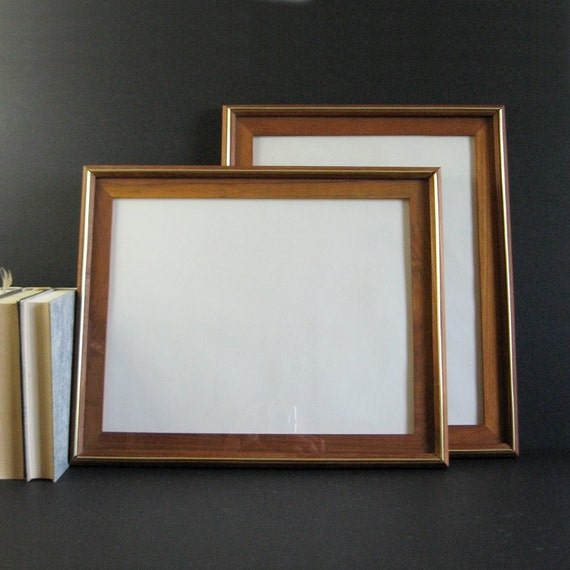 1 Large Teak Frame with Glass 11 x 14 Photo Frame Vintage   Etsy