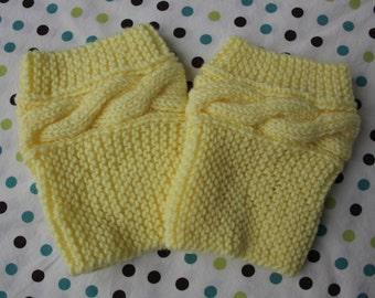 Boot Cuff - Soft Yellow