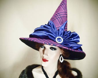 "Witch Hat ""Ghouls Just Want to Have Fun"" One of a Kind, Pagan, Wicca, Gothic Fashion, Magic, Halloween, Victorian inspired"