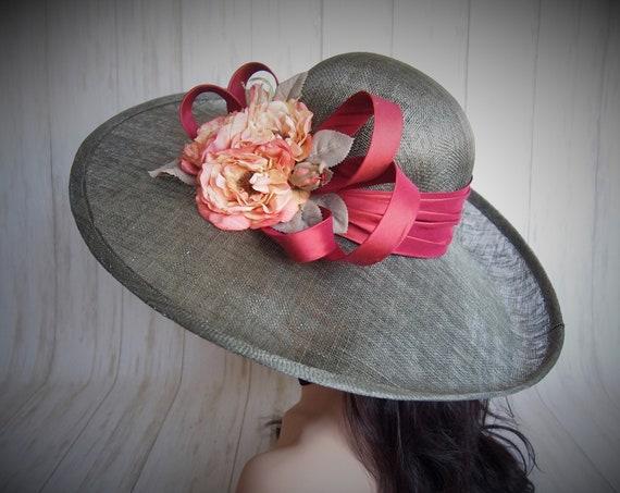 Rose Sinamay Derby Hat