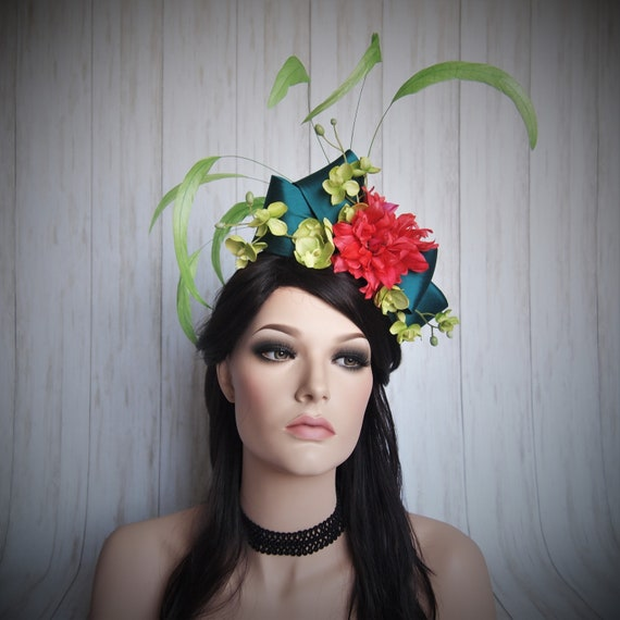 Tropical Party Fascinator