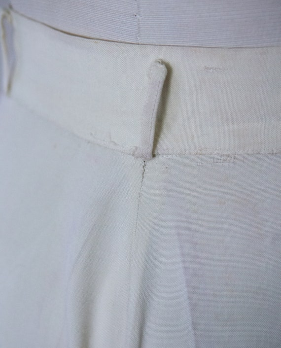Early 1940s White Slacks Trousers **Project** - image 5