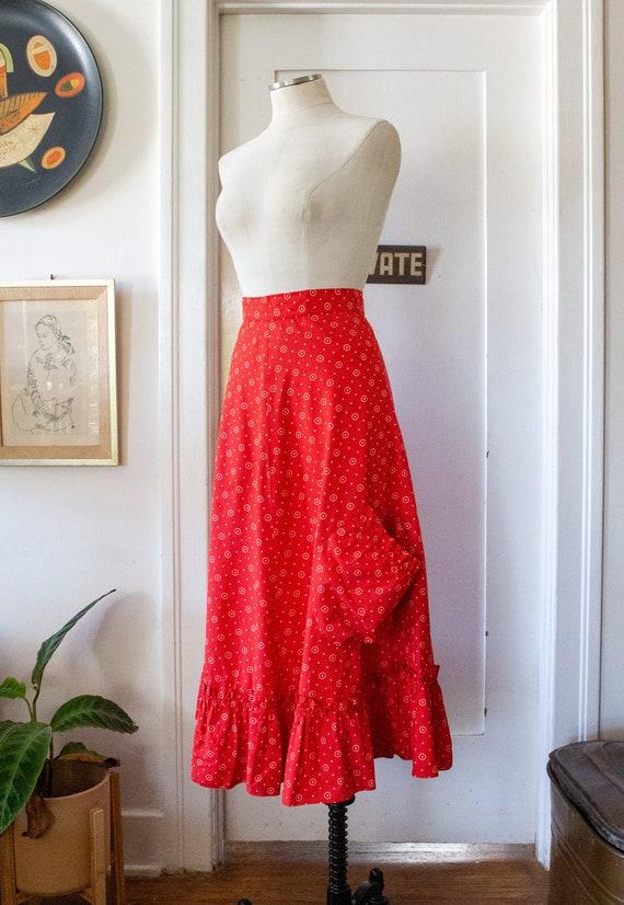 Late 40s Cotton Skirt by Louella Ballerino