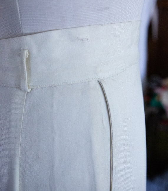 Early 1940s White Slacks Trousers **Project** - image 8