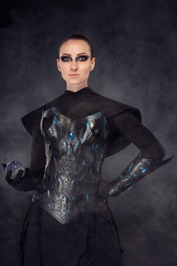 Weibliche Leder Armschienen/Krieger dunklen Elfen Rüstung/paar   Etsy