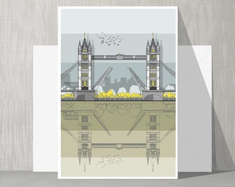 Architectural Blank Card - Tower Bridge