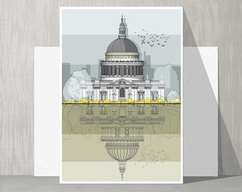 Architectural Blank Card - St. Paul's Cathedral