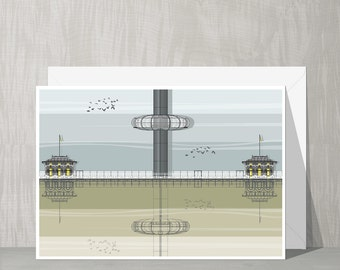 SALE Brighton Architecture Blank Card - i360 Tower
