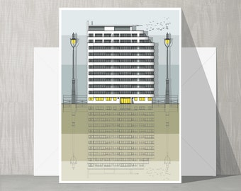 Brighton Architecture Blank Card - Embassy Court
