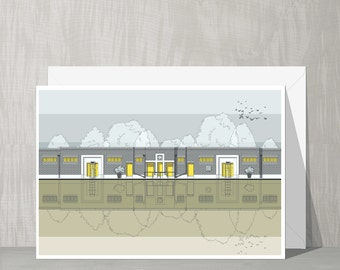 SALE Architectural Blank Card - Brockwell Lido (Herne Hill)