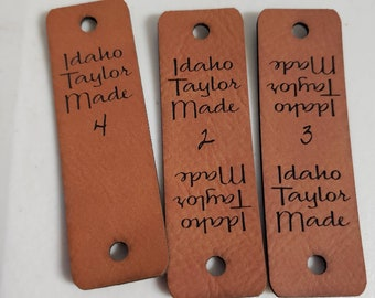 Faux Leather Tags