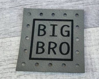 BIG BRO Patches Faux Leather Patch! Knit Hat Patch! Crochet Beanie Patch!  Baby Patches!  Blanket Patches!  Family! Siblings!