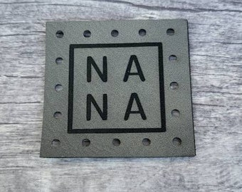 NA NA Patches Faux Leather Patch! Knit Hat Patch! Crochet Beanie Patch!  Baby Patches!  Blanket Patches!  Family! Siblings!