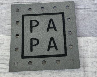 PA PA Patches Faux Leather Patch! Knit Hat Patch! Crochet Beanie Patch!  Baby Patches!  Blanket Patches!  Family! Siblings!